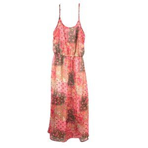 Vintage Havana Colorful Flowy Maxi Dress Size L